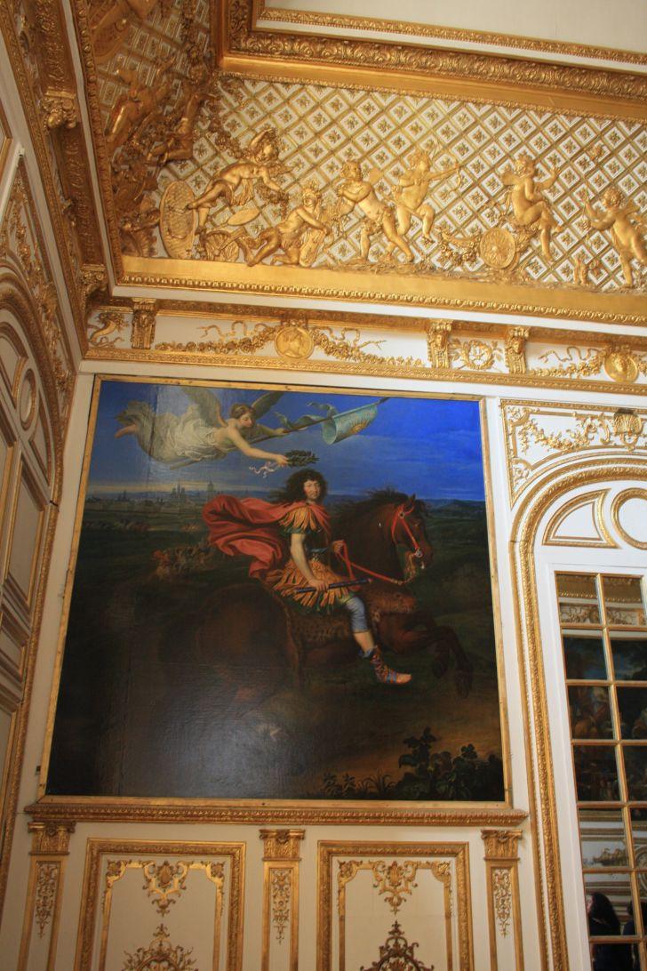 Cuadro del dormitorio de luis xvi pinturas de versalles for Dormitorio luis xvi